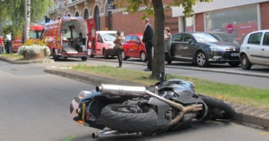 accident de moto ville