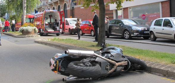 accident de moto ville