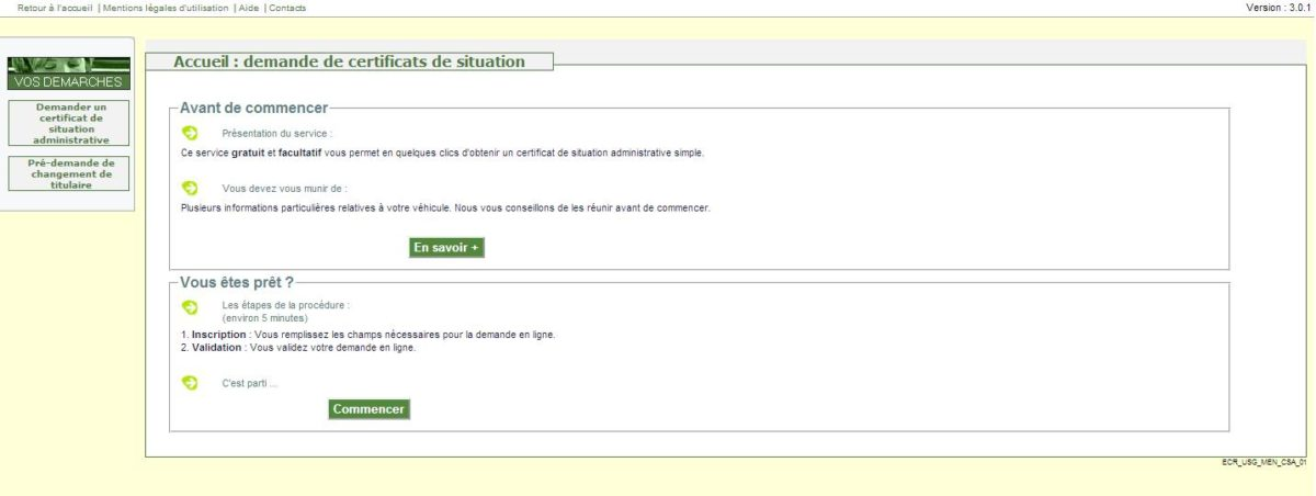 certificat de situation moto