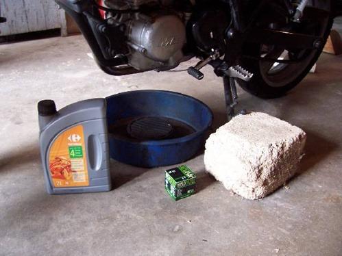 vidange d'une moto