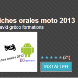 application fiches moto