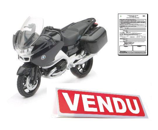 Certificat de cession pour moto ou scooter