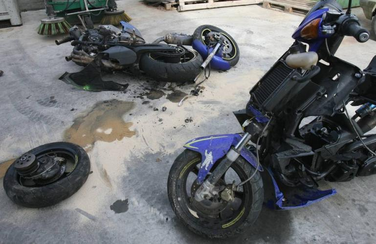 accident moto scooter 125
