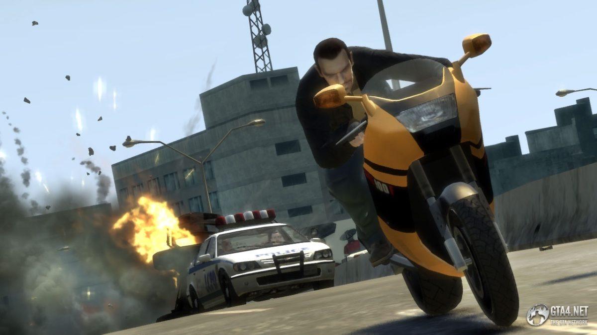 moto jeu GTA IV