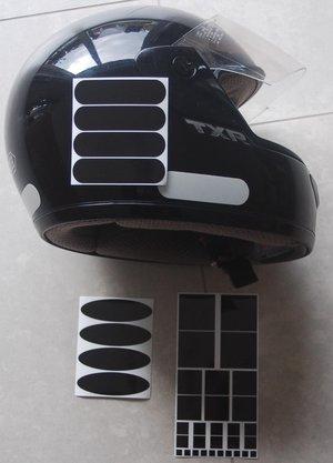 réfléchissant noir casque moto