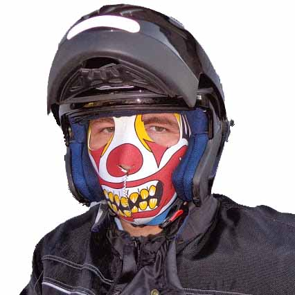 masque moto clown