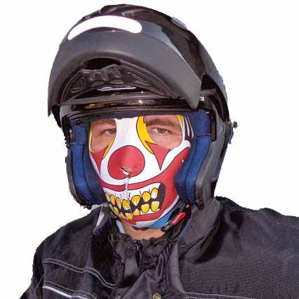 masque moto clown