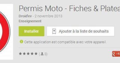 application fiches moto android