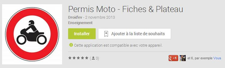applications fiches moto