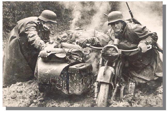 Moto allemande seconde guerre BMW R75