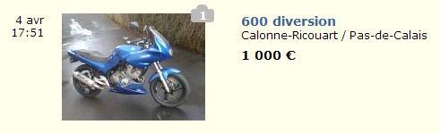 600 diversion prix