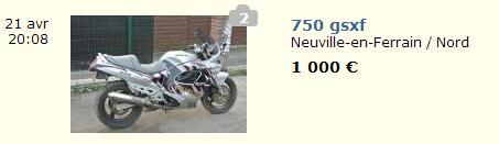 prix moto gsxf