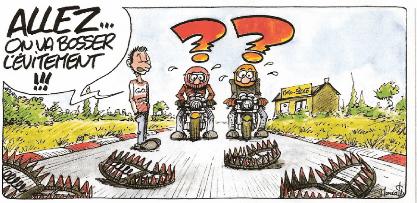 évitement moto humour