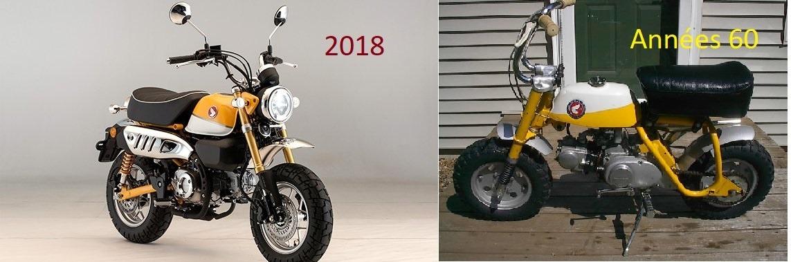 Honda monkey 2018 et années 60