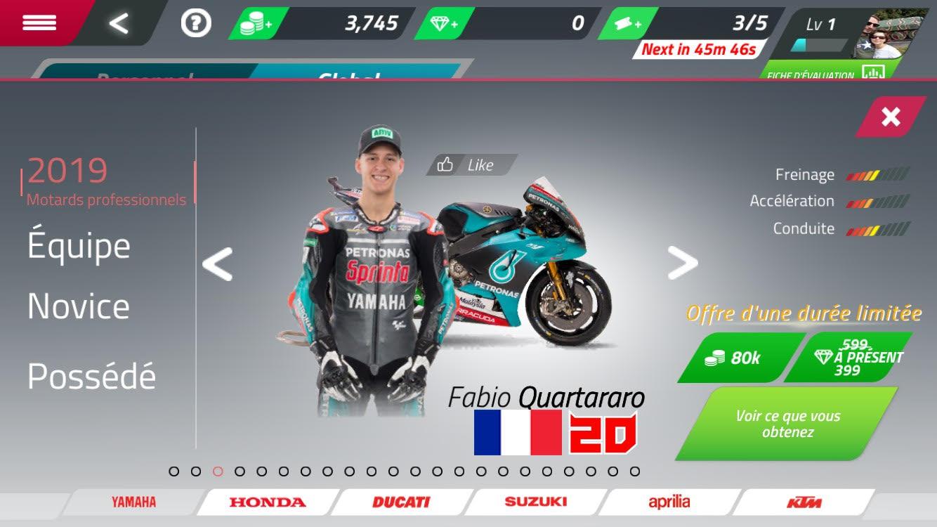 Jeu Moto GP Racing sur Google Play Store et App Store gratuit