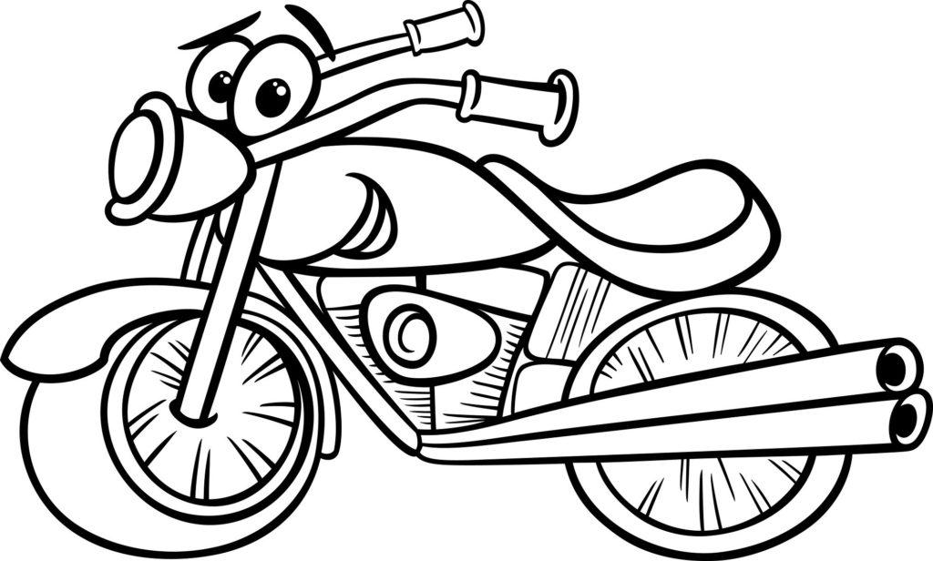 Coloriages moto pour occuper vos enfants - Motoconseils.com