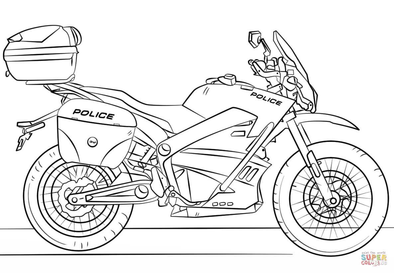 coloriage moto
